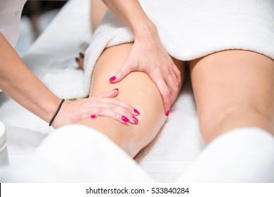Anti-cellulite massage leg.