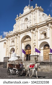 Antigua, Guatemala - 2017-03-04:  Roman Catholic Church named Antigua Guatemala Cathedral, in Antigua, Guatemala