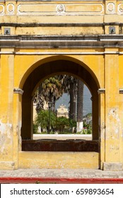 ANTIGUA GUATEMALA - May 20, 2016: Tank the Union, in colonial city of Antigua Guatemala, national and foreign tourism, World Heritage Site by UNESCO in 1979.