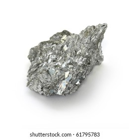 Antimony, minor metals on white background