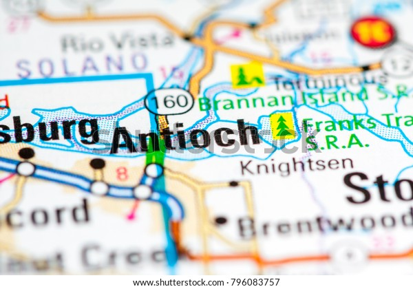 Antioch California Usa On Map Stock Photo (Edit Now) 796083757