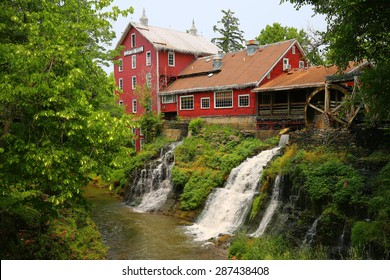 ANTIOCH, OH - June 9, 2015:   Clifton Mill is a popular Ohio tourist attraction featuring one of the few working water powered grist mills.