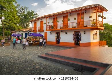 Medellín, Antioquia /Colombia - 03.14.2018 Pueblito Paisa in Medellín