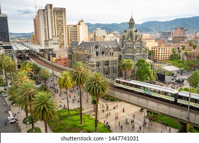 Medellín, Antioquia / Colombia. June 20, 2019. The Medellín metro is a massive rapid transit system that serves the city.