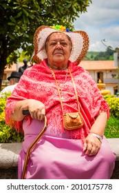 Medellín, Antioquia- Colombia. March 11, 2021. Portrait of elderly gentleman