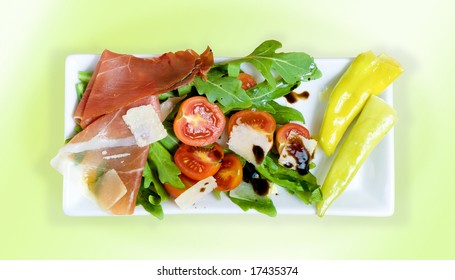 Antipasto on a plate