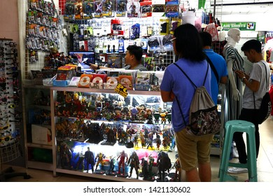 ANTIPOLO CITY, PHILIPPINES – JUNE 7, 2019: Assorted collectible toys and computer video games on display at a store.