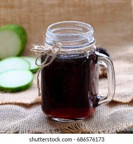Antipyretic beverage for hot day, wax gourd tea, a popular drinks at Vietnam, juicy from melon that good for health
