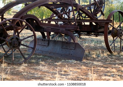 Antiquated farm equipment in community park, Quorn, South Australia