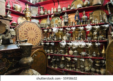 Antique arabic handicrafts background - Best of Morocco