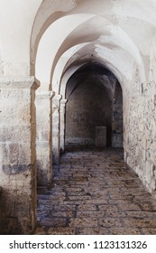 Antique arc in the old house in Israel