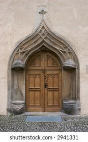 Antique arch door