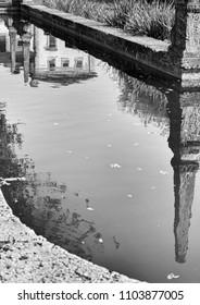 Antique architecture reflection
