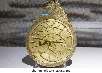 Antique astrolabe used by ancient astronomers, navigators and astrologers.