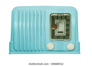 Antique bakelite tube radio isolated parts, clipping paths included