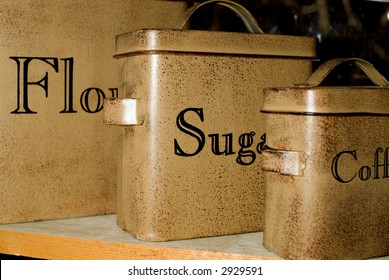 Antique Baking Canisters