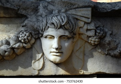 Antique bas-relief in the ancient city of Aphrodisius