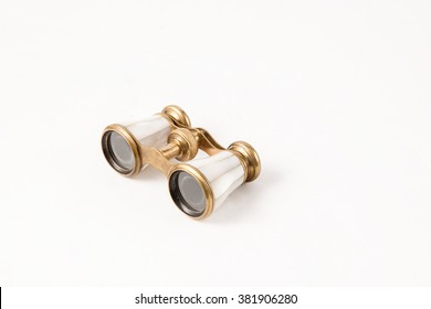 antique binocular isolated