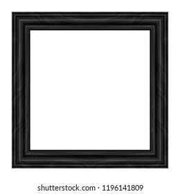 antique black picture frame isolated on white background