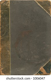 Antique book journal cover with rich texture from 1903. Work path. Lots of wear and grunge.