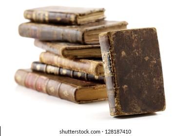 antique books isolated