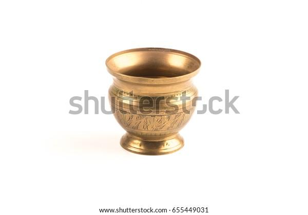 188 & Antique Brass Flower Vase Stock Photo (Edit Now) 655449031