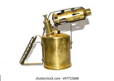 Antique Brass Steampunk Blowtorch Flame Thrower