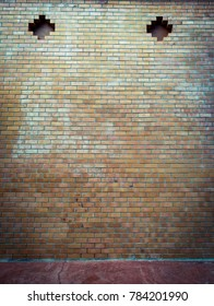 The antique bricks wall background.