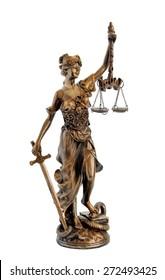 antique bronze statuette Femida