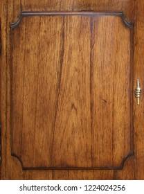 antique brown mende wooden door panel