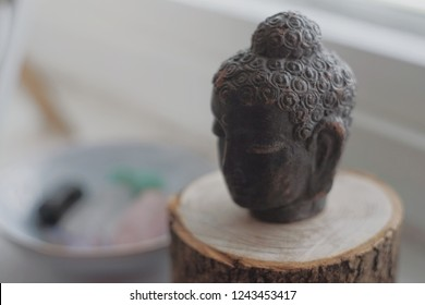 Antique Budha head statue from Indonesia