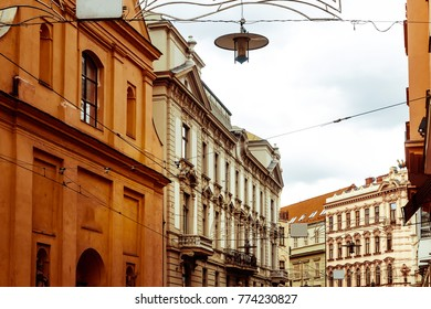 antique building view in Brno, Czech Republic