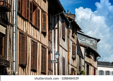 Antique building view in Old Town Limoges, France