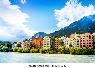 Antique building view in Old Town Innsbruck, Austria