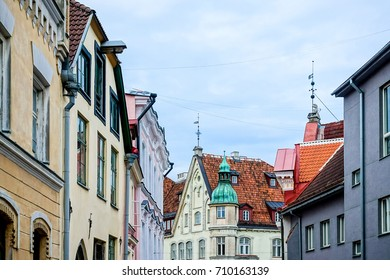 antique building view in Old Town Tallinn, Estonia