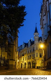 antique building view in Old Town Riga, Latvia