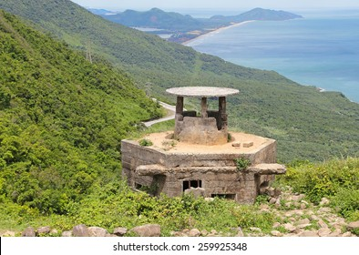 Antique bunker of the Vietnam War Gunned.Da Nang,Vietnam
