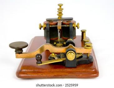 "Antique ""Camelback"" Morse key and sounder (c1860)"