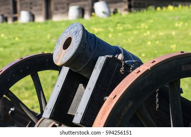 Antique cannon at Fort Ross, California