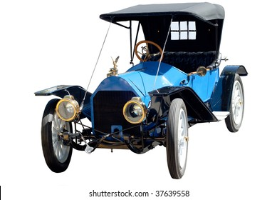 Antique car isolated on a white background
