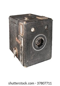 Antique cardboard box camera, the point and shoot at 1900