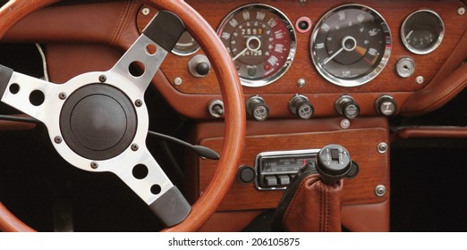 antique cars (control panel, fragment)