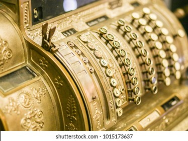 antique antique cash register close - up