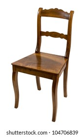 antique chair made of cherry wood from the biedermeier time