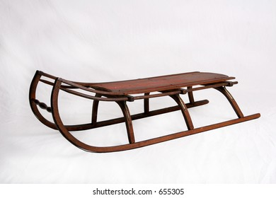 Antique child's sled made of wood