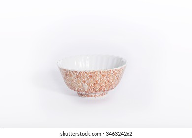 Antique Chinese Ceramic bowl isolate on white background
