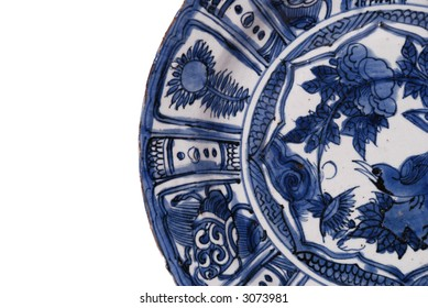 China old antique Porcelain ming wangli blue and white hand painting flower cup