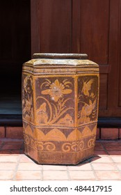 Antique Chinese porcelain brown jar