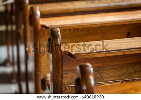 antique church pews