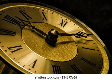 Antique Clock Close up
